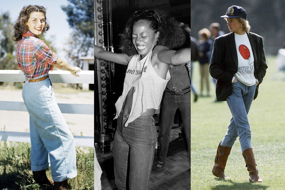 47 Vintage Pictures of Our Favorite Icons Dressed in Denim