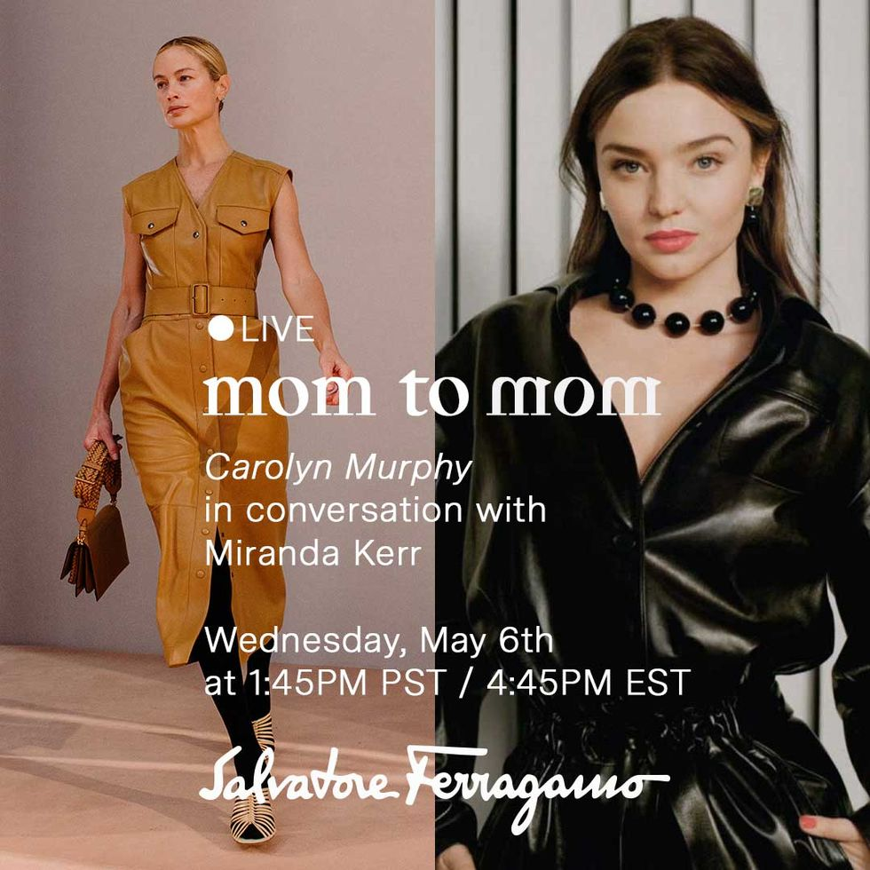 Carolyn Murphy Is Going Live With Ferragamo For Mother's Day