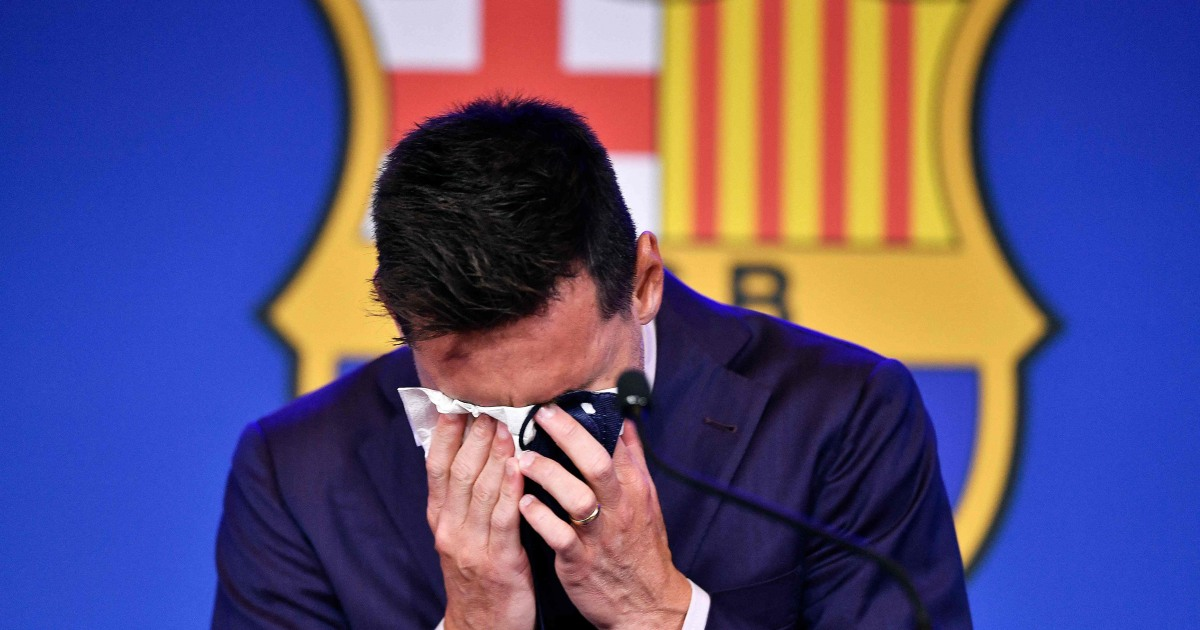 Soccer icon Messi confirms bitter Barcelona exit in tearful farewell - NBC News