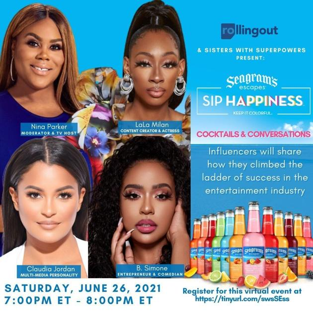 Seagrams Escapes Hosts Virtual Discussion with Leading African American Women in Entertainment - Saturday, June 26 at 7