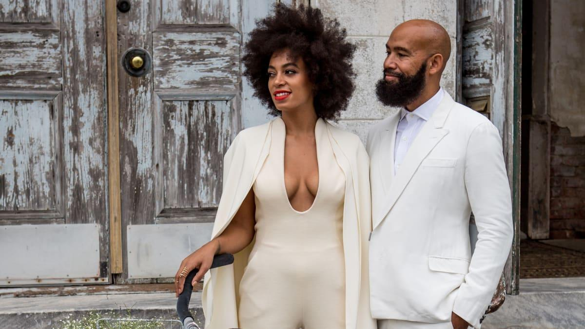 Great Outfits in Fashion History: Solange Knowless Cape Bridal Jumpsuit - Yahoo Lifestyle